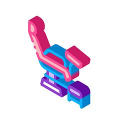 Generic chair isometric icon vector