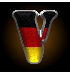 Germany metal figure v vector