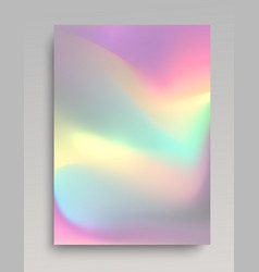 Glowing hologram background vector