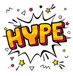 Hype on white background vector