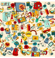 Internet Of Things Seamless vector image