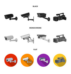 Isolated object camcorder and camera symbol vector