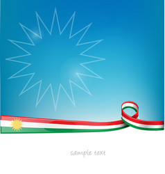 kurdistan lag on background vector image