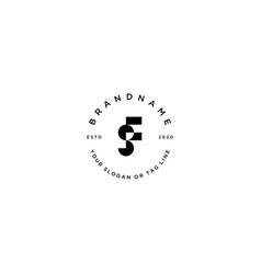 Letter sf modern feminine logo design vector