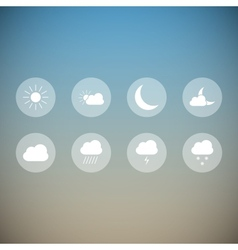 Light weather icons vector image