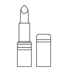 Lipstick icon outline style vector image