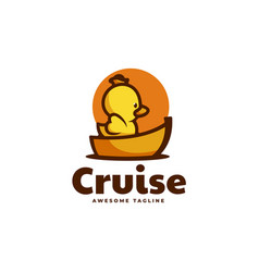 logo cruise duckling simple mascot style vector image