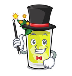 Magician mint julep mascot cartoon vector