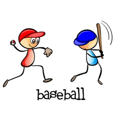 Men playing baseball vector
