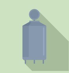 Milk factory cistern icon flat style vector