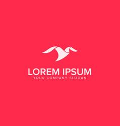 minimalist modern bird logo design concept vector image