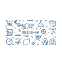 mission blue concept outline horizontal vector image