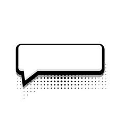 modern halftone bubble speech icon on white vector image