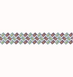 Mystical seamless border of set of tarot vector