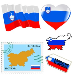 national colours of Slovenia vector image