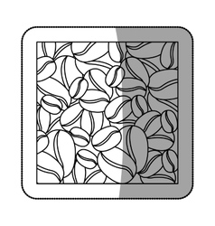 Natural Coffee beans vector image