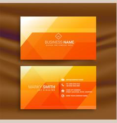 Orange abstarct business card design vector