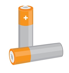 Orange batteries vector