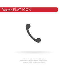 phone icon for web business finance and vector image