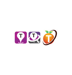 pin location fruit t template set vector image