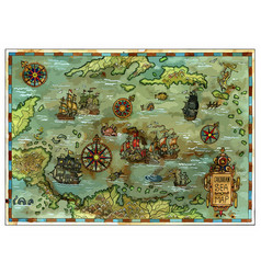 pirate map 1 vector image