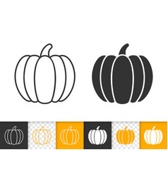 pumpkin thanksgiving simple black line icon vector image