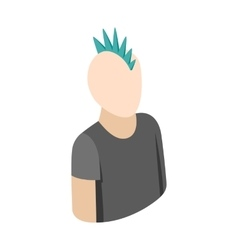 Punk guy icon isometric 3d style vector