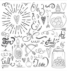 Romantic elements vector image