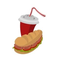 Sandwich and soda vector