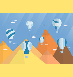 scene background for balloon festival in flat vector image