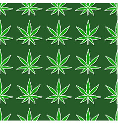 Seamless pattern with cannabis leaves vector
