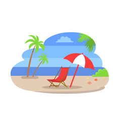 Seaside water beach isolated vector