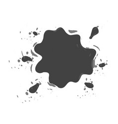 Shaped and sized abstract ink blots isolated vector