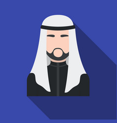 Sheikh icon in flat style isolated on white vector