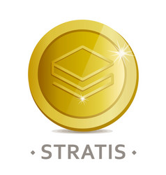 stratis icon as golden coin vector image
