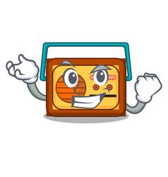 successful radio character cartoon style vector image