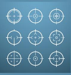 target aim icons military set crosshair vector image