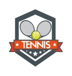 tennis racket balls banner design vector image