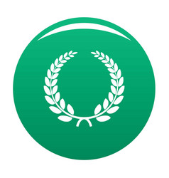 triumph wreath icon green vector image