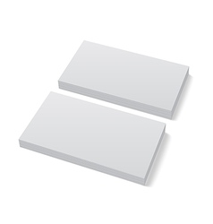 Two stacks of blank business cards on white vector