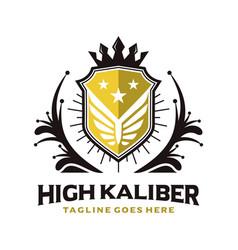 vintage king shield logo vector image