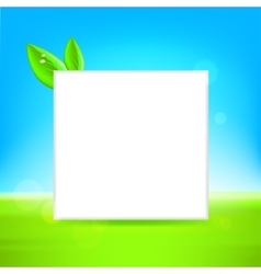 White frame with leaf vector image