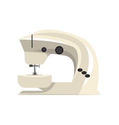 white modern electronic sewing machine vector image