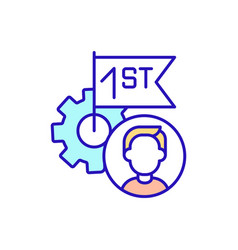 Work mechanism employee rgb color icon vector