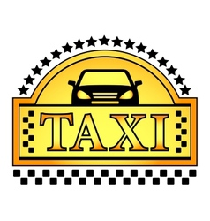 yellow taxi blazon vector image