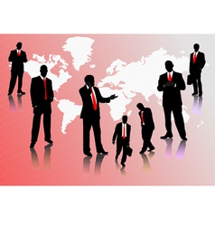 0214businessmen silhouettes vector image vector image