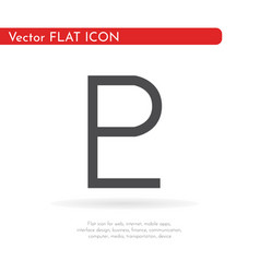astrology symbol pluto vector image
