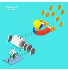 Investment attraction flat isometric vector image vector image