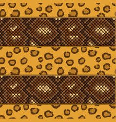 leopard and snake skin seamless pattern vector image