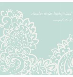 vintage lace ornament vector image